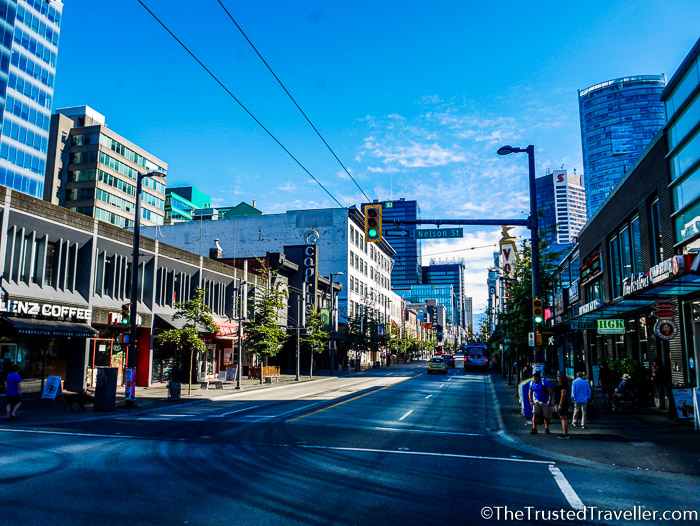 Granville Street - Hostel Review: HI Vancouver Central - The Trusted Traveller