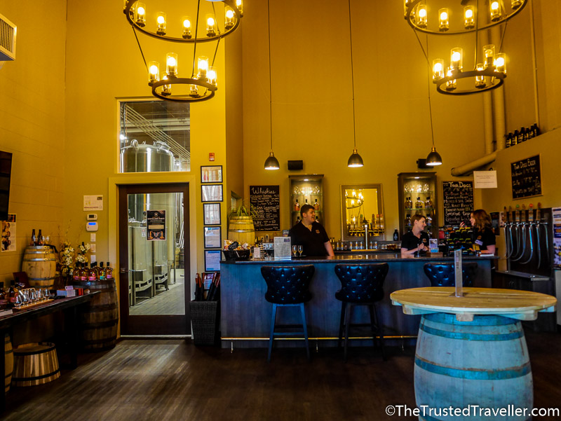 Victoria Caledonia tasting room - How to Visit the Best Craft Breweries in Victoria BC - The Trusted Traveller
