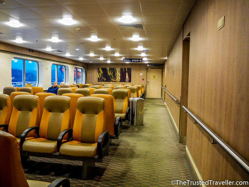 Inside seating on the BC Ferries Inside Passage Day Cruise - How to Cruise the Inside Passage for Cheap - The Trusted Traveller