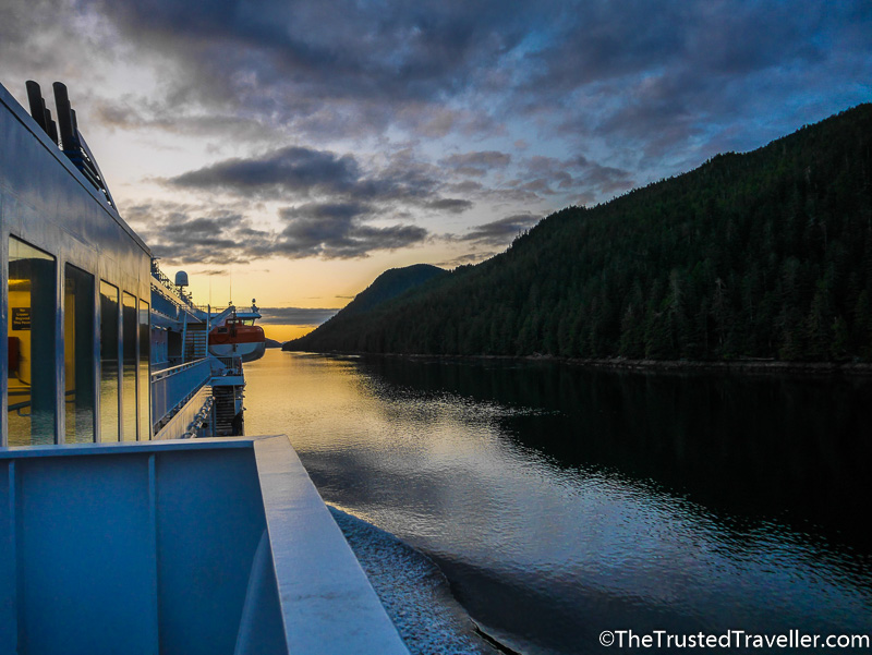 Sunset on the Inside Passage - How to Cruise the Inside Passage for Cheap - The Trusted Traveller