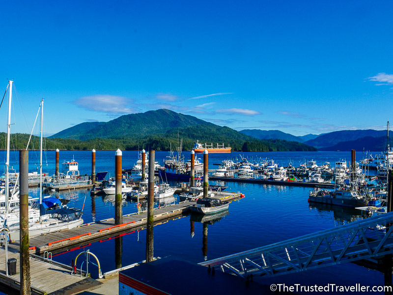 The waterfront at Cow Bay - Hostel Review: HI Prince Rupert Pioneer Guesthouse - The Trusted Traveller
