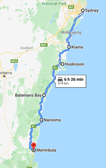 NSW South Coast Road Trip Itinerary Map - The Trusted Traveller